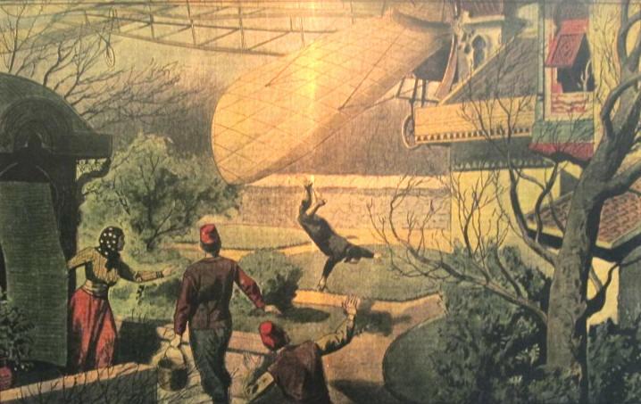 Die blériot xi war ein eindecker flugzeug das vom französischen